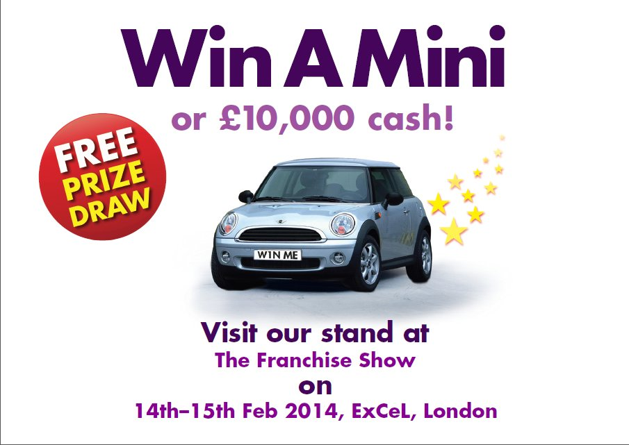 win a mini at franchise show